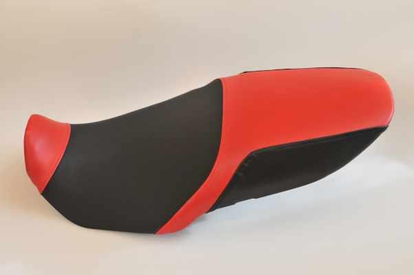 SUZUKI GSF1200 スズキ  赤・ディンプル・赤・カーボン アンコ抜き  バイクシート張替え シート加工 seat