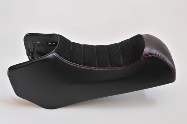 HONDA ホンダ MONKEYR モンキーR アルカンターラ黒パンチングタックロール バイクシート張替え シート加工 seat