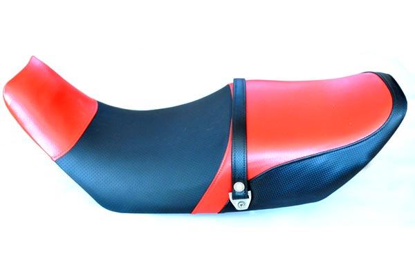 YAMAHA ヤマハ XJ750E2 アンコ抜き 赤・ディンプル・赤・カーボン  バイクシート張替え シート加工 seat