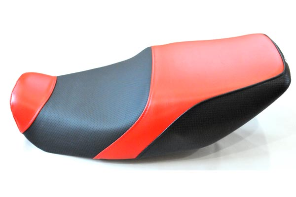 KAWASAKI カワサキ ZRX400 アンコ抜き 赤ディプル赤カーボン  バイクシート張替え シート加工 seat