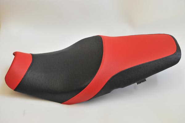 KAWASAKI カワサキ ZX14R ZX-14R アンコ抜き 赤ディンプル・オーストリッチ4種  バイクシート張替え シート加工 seat